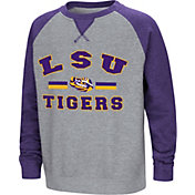 Colosseum Youth LSU Tigers Grey/Purple Rudy Zoleteck Fleece Sweatshirt