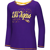 Colosseum Youth Girls' LSU Tigers Purple Camber Long Sleeve T-Shirt