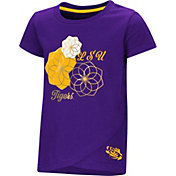 Colosseum Toddler Girls' LSU Tigers Purple Whoo! Whoo! T-Shirt
