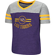 Colosseum Toddler Girls' LSU Tigers Purple/Grey Pee Wee Football T-Shirt