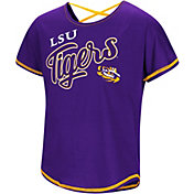 Colosseum Youth Girls' LSU Tigers Purple Little Giants Dolman T-Shirt