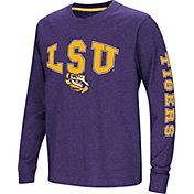 Colosseum Youth LSU Tigers Purple Spike Long Sleeve T-Shirt