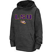 Colosseum Youth LSU Tigers Grey Pullover Hoodie