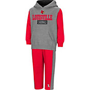 Colosseum Toddler Boys' Louisville Cardinals Grey/Cardinal Red Back To Second Grade Fleece Set