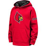 Colosseum Youth Louisville Cardinals Cardinal Red Fleece Pullover Hoodie