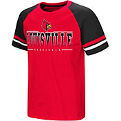 Colosseum Youth Louisville Cardinals Cardinal Red/Black Rad Tad Raglan T-Shirt