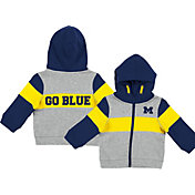 Colosseum Infant Boys' Michigan Wolverines Grey Snowplough Full-Zip Hoodie