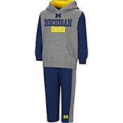 Colosseum Toddler Boys' Michigan Wolverines Grey/Blue Back To Second Grade Fleece Set