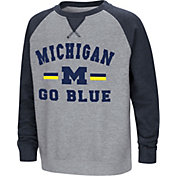 Colosseum Youth Michigan Wolverines Grey/Blue Rudy Zoleteck Fleece Sweatshirt
