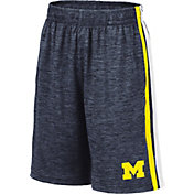 Colosseum Youth Michigan Wolverines Blue Mendoza Shorts