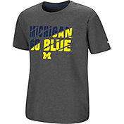 Colosseum Youth Michigan Wolverines Grey Junior T-Shirt
