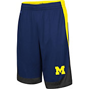 Colosseum Youth Michigan Wolverines Blue Hall of Fame Shorts