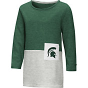 Colosseum Youth Girls' Michigan State Spartans Green/Grey Twizzle Dress