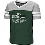 Colosseum Toddler Girls' Michigan State Spartans Green/Grey Pee Wee Football T-Shirt