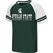 Colosseum Youth Michigan State Spartans Green/White Rad Tad Raglan T-Shirt