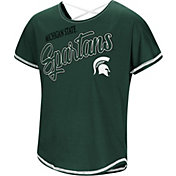 Colosseum Youth Girls' Michigan State Spartans Green Little Giants Dolman T-Shirt