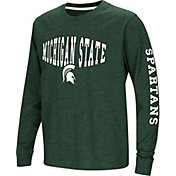 Colosseum Youth Michigan State Spartans Green Spike Long Sleeve T-Shirt