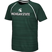 Colosseum Youth Michigan State Spartans Green Raglan T-Shirt