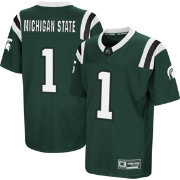 Colosseum Youth Michigan State Spartans Green Foos-Ball Football Jersey