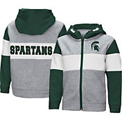Colosseum Toddler Boys' Michigan State Spartans Grey Snowplough Full-Zip Hoodie
