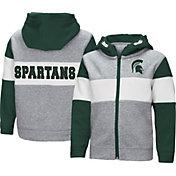 Colosseum Toddler Boys' Michigan State Spartans Grey Snowplough Full-Zip Hoodie