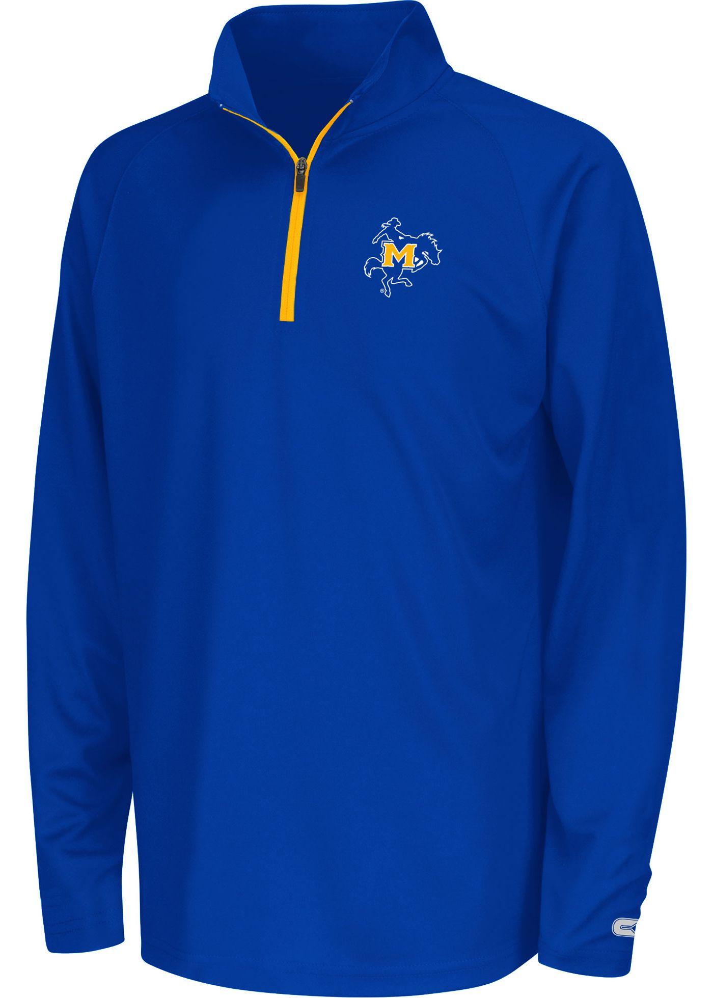 Colosseum Youth McNeese State Cowboys Royal Blue Draft Quarter-Zip Shirt