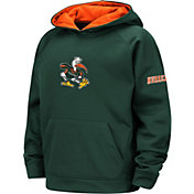 Colosseum Youth Miami Hurricanes Green Pullover Hoodie