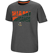 Colosseum Youth Miami Hurricanes Grey Junior T-Shirt