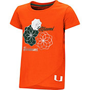 Colosseum Toddler Girls' Miami Hurricanes Orange Whoo! Whoo! T-Shirt