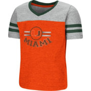 Colosseum Toddler Girls' Miami Hurricanes Orange/Grey Pee Wee Football T-Shirt