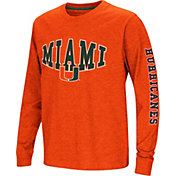 Colosseum Youth Miami Hurricanes Orange Spike Long Sleeve T-Shirt