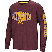 Colosseum Youth Minnesota Golden Gophers Maroon Spike Long Sleeve T-Shirt