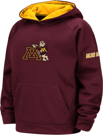 Colosseum Youth Minnesota Golden Gophers Maroon Pullover Hoodie.  noImageFound 15bf08636