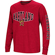 Colosseum Youth Maryland Terrapins Red Spike Long Sleeve T-Shirt