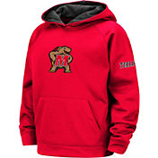 Colosseum Youth Maryland Terrapins Red Pullover Hoodie