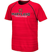 Colosseum Youth Maryland Terrapins Red Raglan T-Shirt