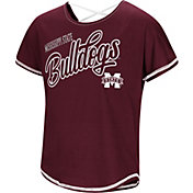 Colosseum Youth Girls' Mississippi State Bulldogs Maroon Little Giants Dolman T-Shirt