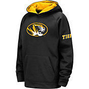 Colosseum Youth Missouri Tigers Fleece Pullover Black Hoodie
