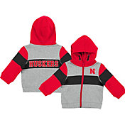 Colosseum Infant Boys' Nebraska Cornhuskers Grey Snowplough Full-Zip Hoodie
