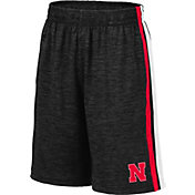 Colosseum Youth Nebraska Cornhuskers Grey Mendoza Shorts