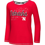 Colosseum Youth Girls' Nebraska Cornhuskers Scarlet Camber Long Sleeve T-Shirt