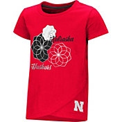 Colosseum Toddler Girls' Nebraska Cornhuskers Scarlet Whoo! Whoo! T-Shirt