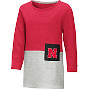 Colosseum Toddler Girls' Nebraska Cornhuskers Scarlet/Grey Twizzle Dress