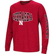 Colosseum Youth Nebraska Cornhuskers Scarlet Spike Long Sleeve T-Shirt