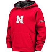 Colosseum Youth Nebraska Cornhuskers Scarlet Pullover Hoodie