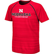 Colosseum Youth Nebraska Cornhuskers Scarlet Raglan T-Shirt