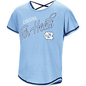 Colosseum Youth Girls' North Carolina Tar Heels Carolina Blue Little Giants Dolman T-Shirt