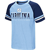 Colosseum Youth North Carolina Tar Heels Carolina Blue/Navy Rad Tad Raglan T-Shirt