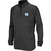 Colosseum Youth North Carolina Tar Heels Grey Quarter-Zip Shirt