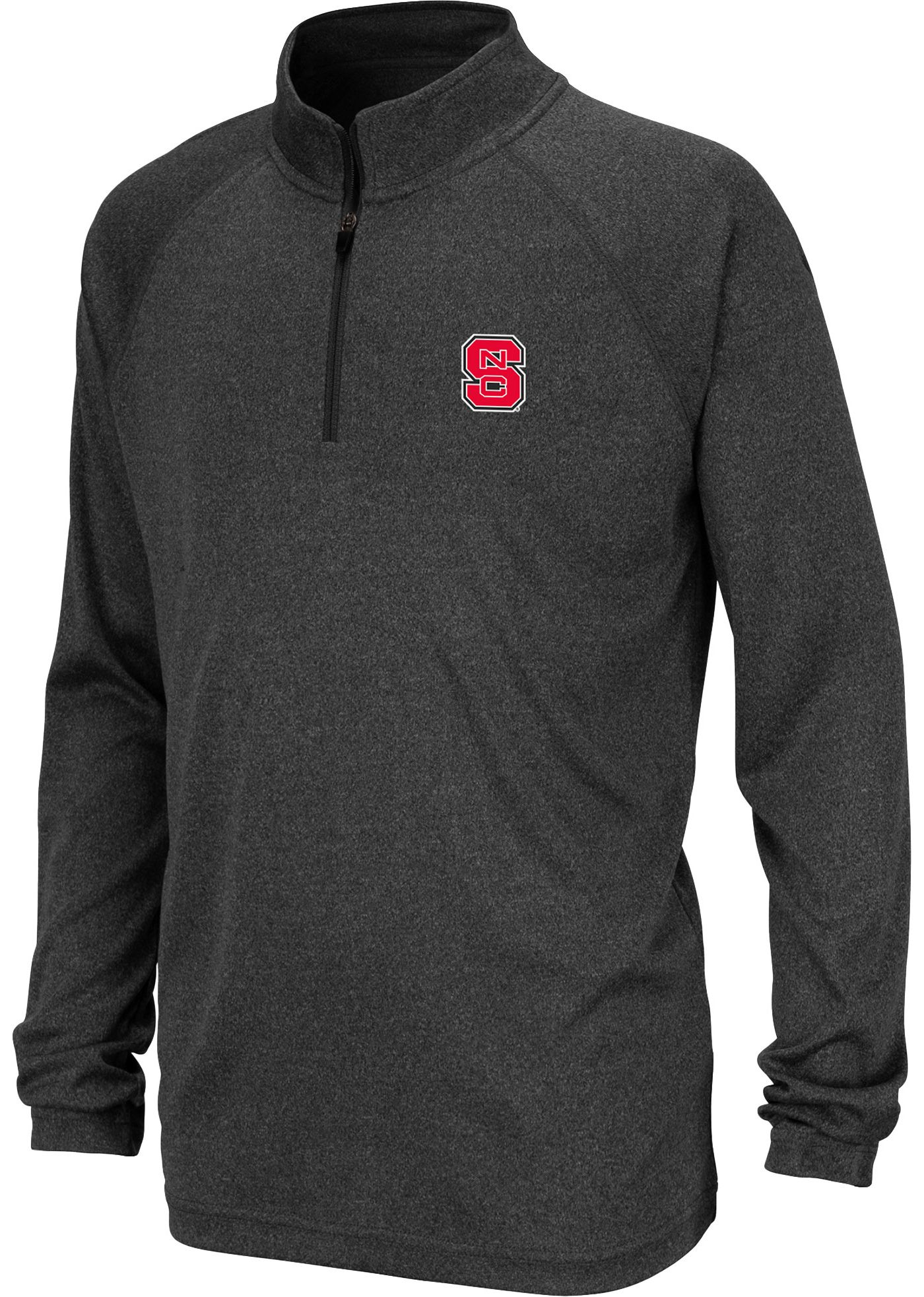 Colosseum Youth NC State Wolfpack Grey Quarter-Zip Shirt